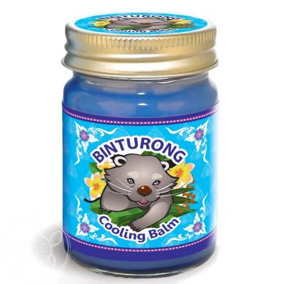 Синий охлаждающий тайский бальзам с эвкалиптом Binturong, 50 гр.