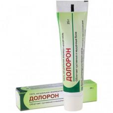 Долорон. Мазь в тубе, (DOLORON) — обезболивающий, антисептический и противовоспалительныйпрепарат25 гр.