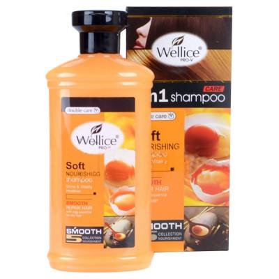 Шампунь для волос Wellice Яичный, для поврежденных, 400 мл