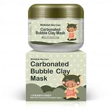Очищающая кислородная маска для лица на основе глины Bioaqua Carbonated Bubble Clay Mask,100 г