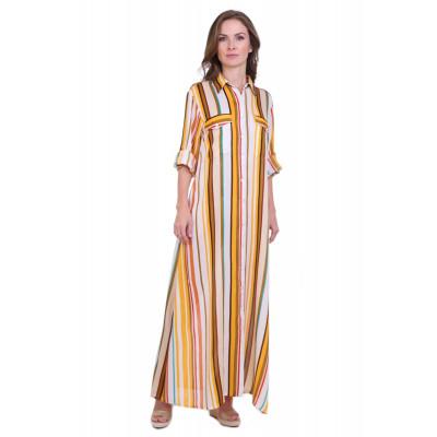 Модное летнее платье в полоску (вискоза) Индия