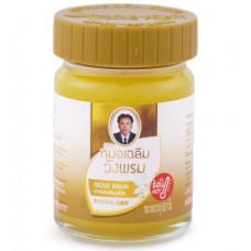 Золотой разогревающий фитобальзам из Тайланда WANG PROM Gold balm 50г
