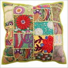 Наволочка декоративная с вышивкой мультиколор
