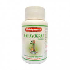 Махайогарадж Гуггул, (Mahayogaraj guggulu Baidyanath) при тяжелых формах артрита, параличе, рассеянном склерозе, 40 тТаблетки