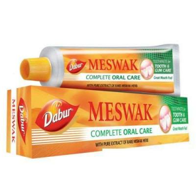 Зубная паста Meswak — освежает, укрепляет десна, придает зубам жемчужный блеск. 100gm meswak dabur