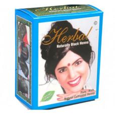 Хна для волос Естественный чёрный Herbal Henna 6 пакетиков по 10 гр.