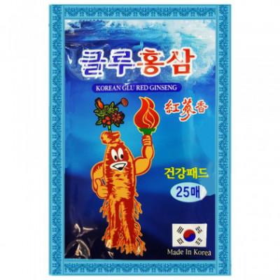 Корейский пластырь  Glu Red Ginseng (20 штук) - при артрозах, артритах и радикулите