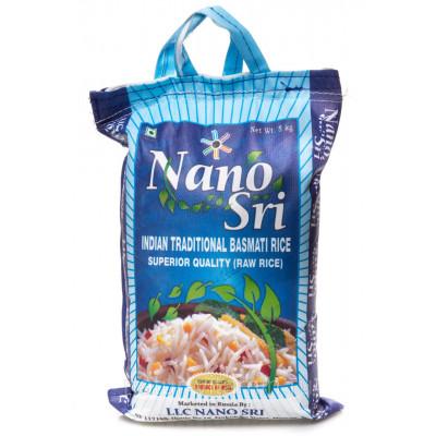 Рис Nano Sri Басмати нешлифованный, 5 кг.