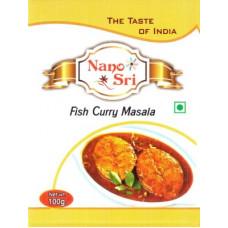 Приправа для рыбы (Fish Curry Masala) 100 г, Nano Sri