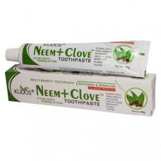 Зубная паста Ним и Гвоздика (Neem and Clove) - антибактериальная и противовоспалительная (Kudos), 100 г.