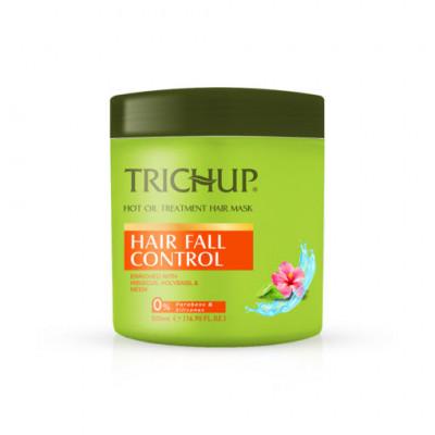 Маска против выпадения волос с горячим маслом Тричуп (TRICHUP Hair Fall Control Hot Oil Treatment Hair Mask) VASU Индия, 500 мл.