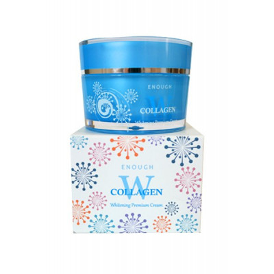 Крем для лица осветляющий с коллагеном Enough W Collagen Whitening Premium Cream