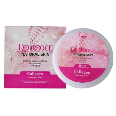 Крем для лица с морским коллагеном Deoproce Natural Skin Collagen Nourishing Cream