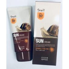 Солнцезащитный крем для лица с муцином улитки (Ye Gam Top Face Snail Sun Block SPF 50 PA+++), 70 гр.