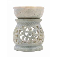 "Аромалампа из камня ""Цветок"" со съемной чашей"