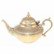 Чайник ручной работы из латуни, Индия