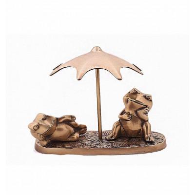 Статуэтка Лягушки под зонтом, латунь Индия
