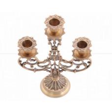 Подсвечник из латуни на 3 свечи Индия