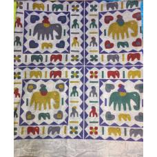 Покрывало хлопок слоны, Индия