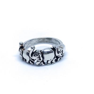 """Кольцо серебряное """"Слоники"""", Индия"""