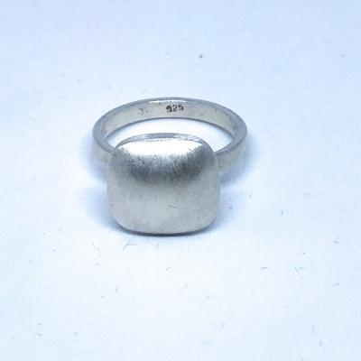"""Кольцо серебряное """"Квадрат"""", Индия."""